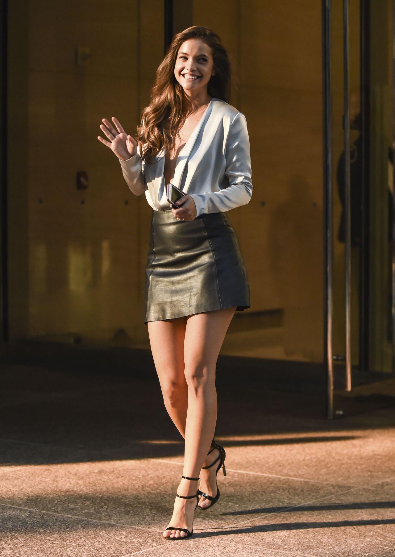 Barbara Palvin  Outside Victorias Secret Headquarters in