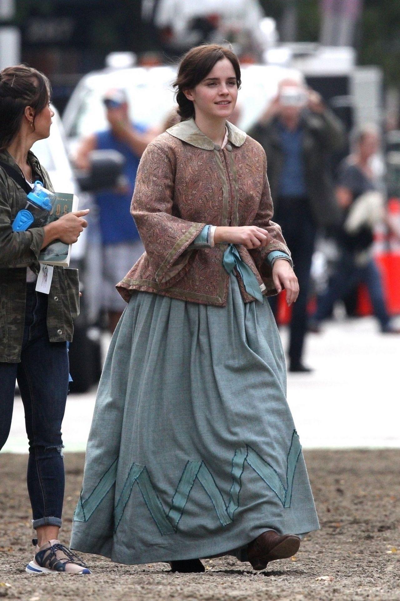 Emma Watson  Little Women Set in Boston 10072018