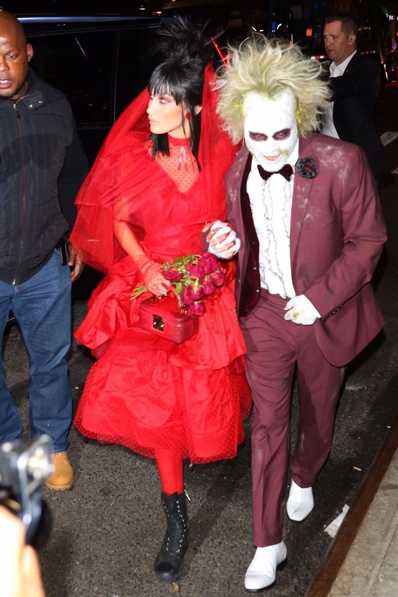 Bella Hadid and The Weeknd at Heidi Klums Halloween Party