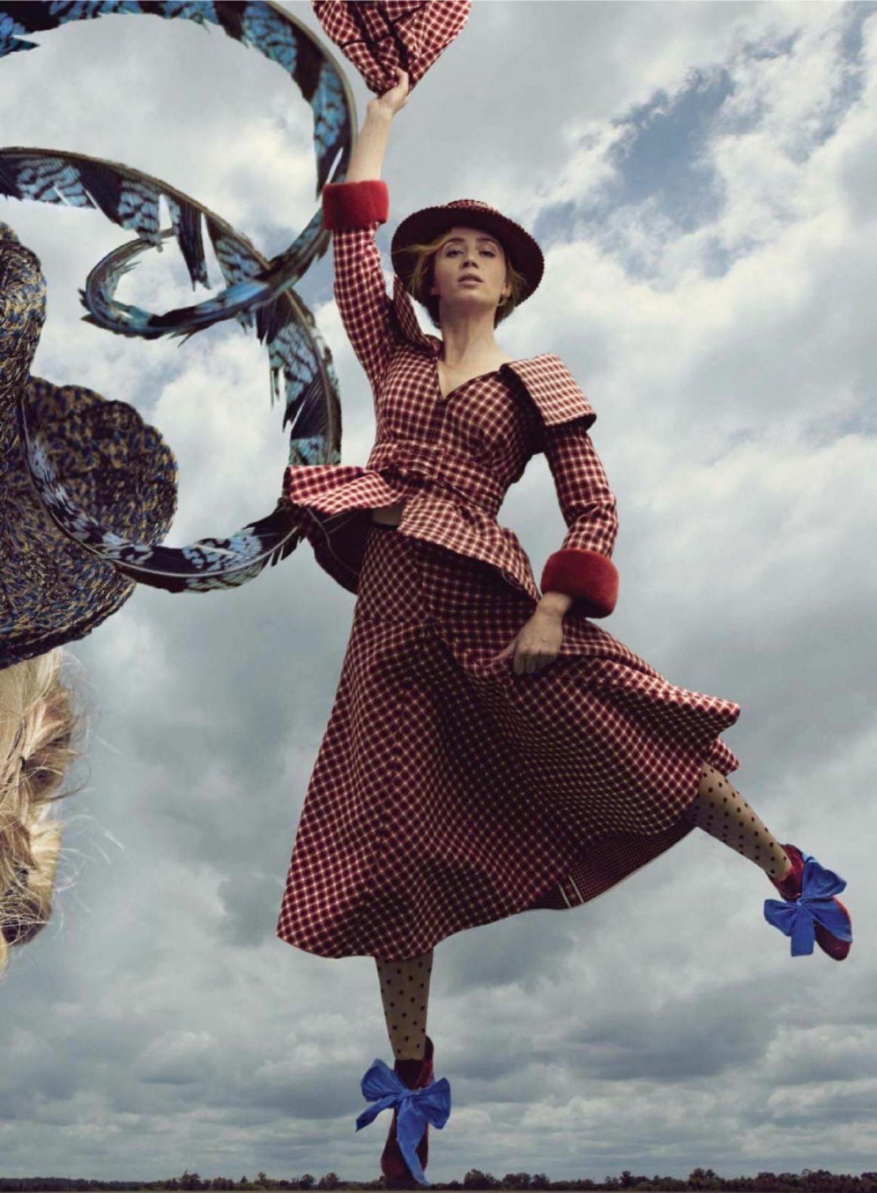 Emily Blunt Amp Lin Manuel Miranda Photographed For Vogue