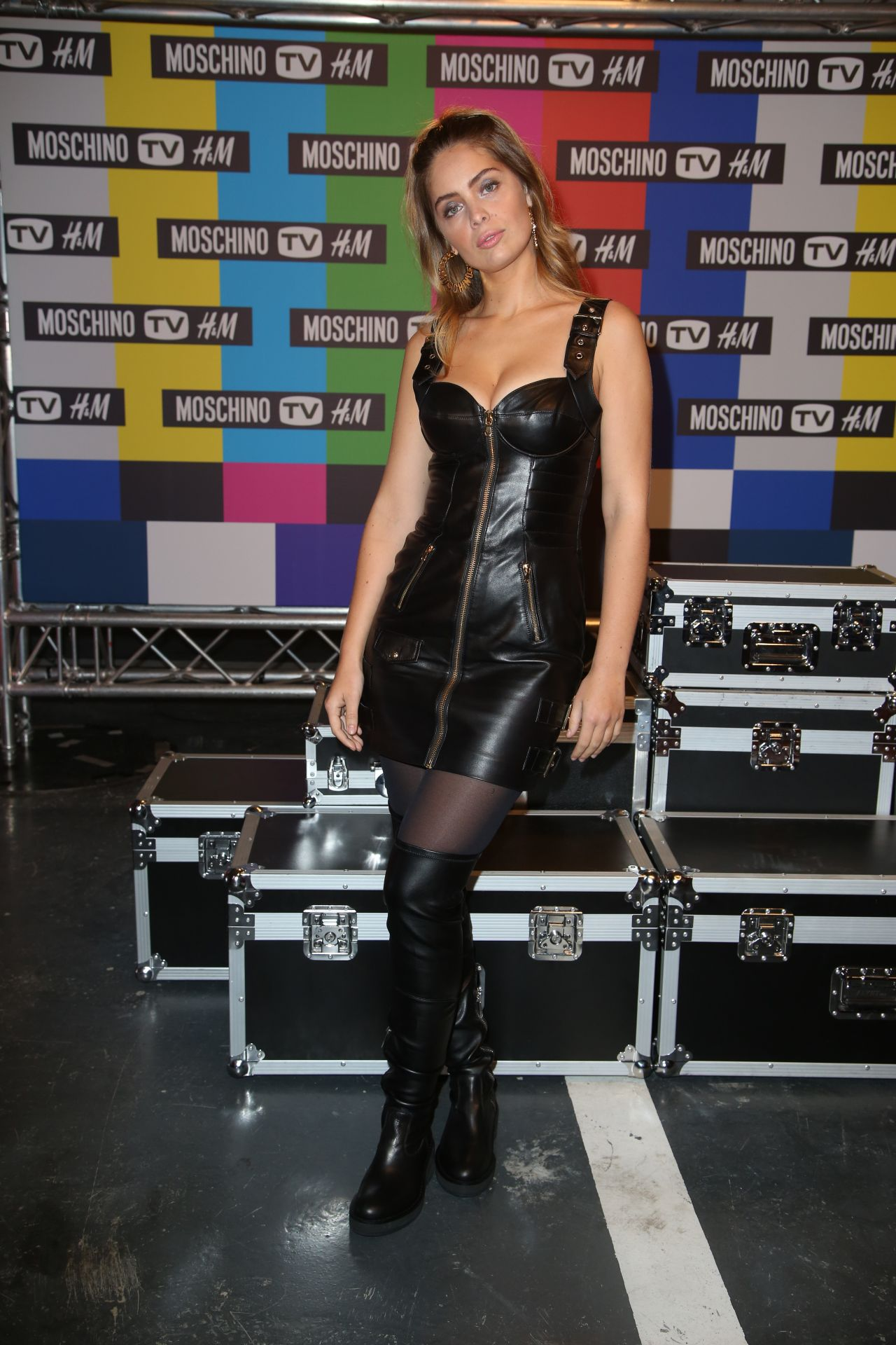 MarieAnge Casta  Moschino x HM Launch Party in Paris