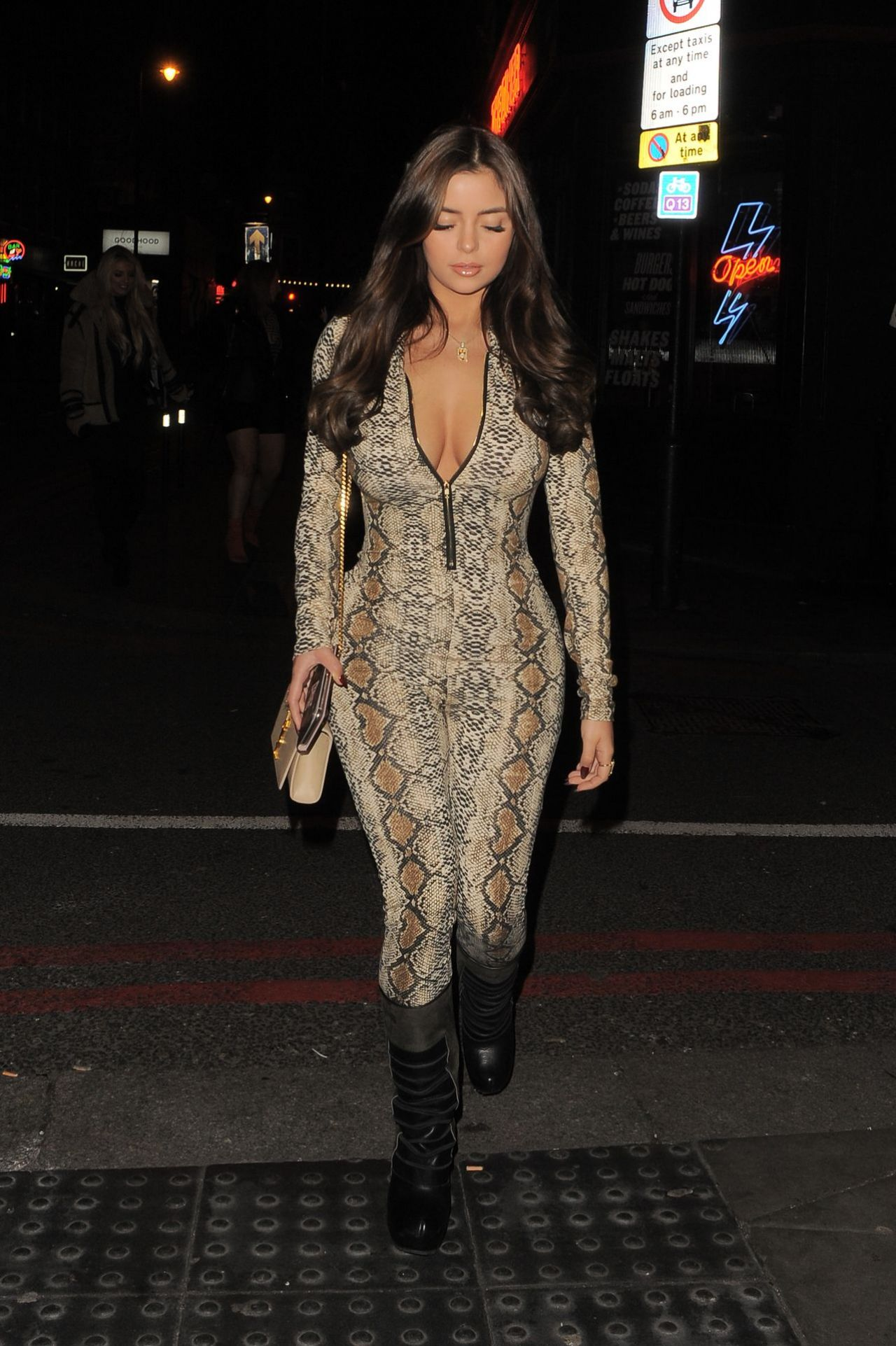 Demi Rose Night Out Style  London 12302018
