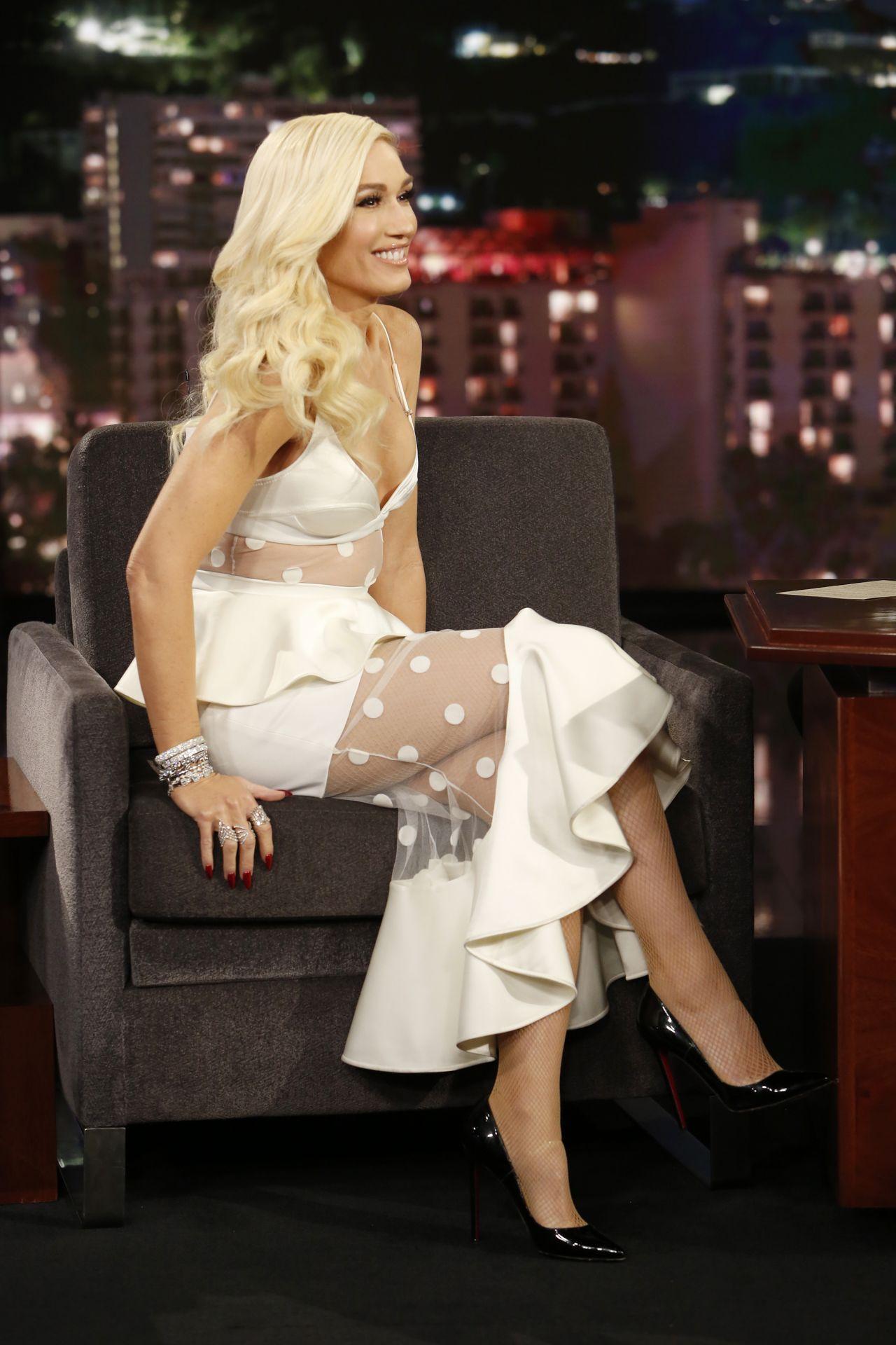 Gwen Stefani Appeared on Jimmy Kimmel Live in LA 12062018