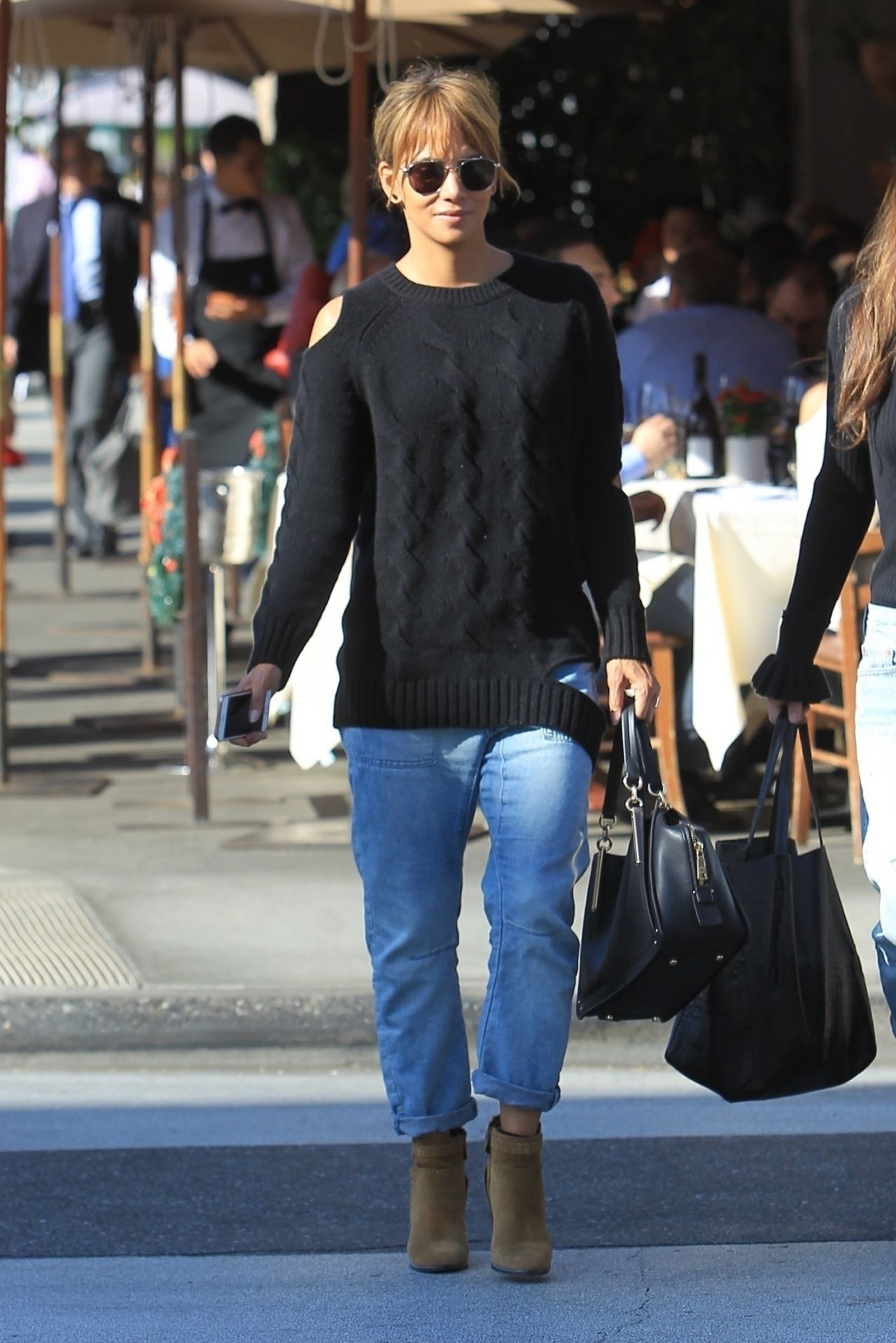 Halle Berry in Casual outfit  Beverly Hills 12212018