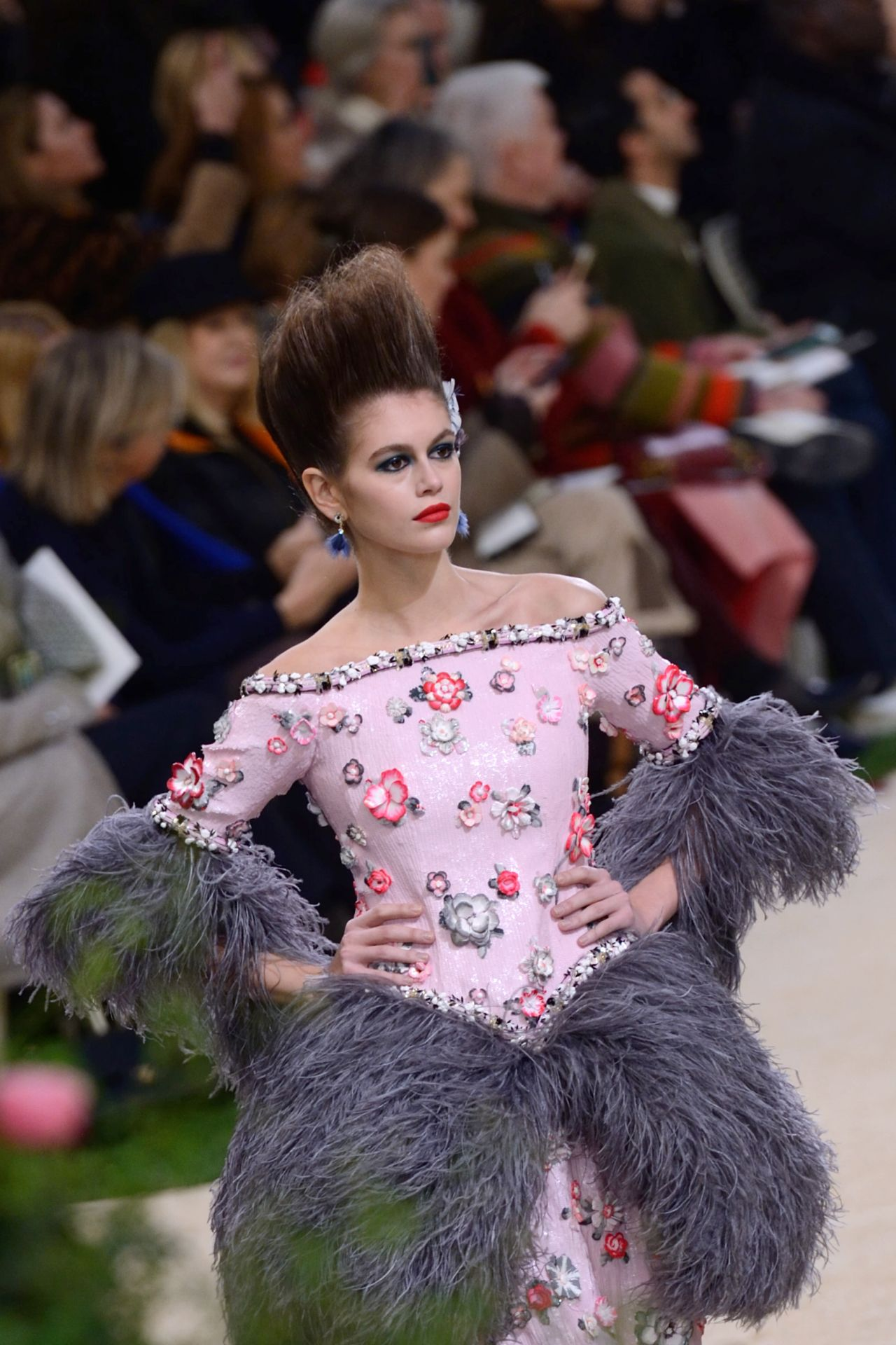 Kaia Gerber Walks Chanel HauteCouture SS 2019 Fashion Show in Paris