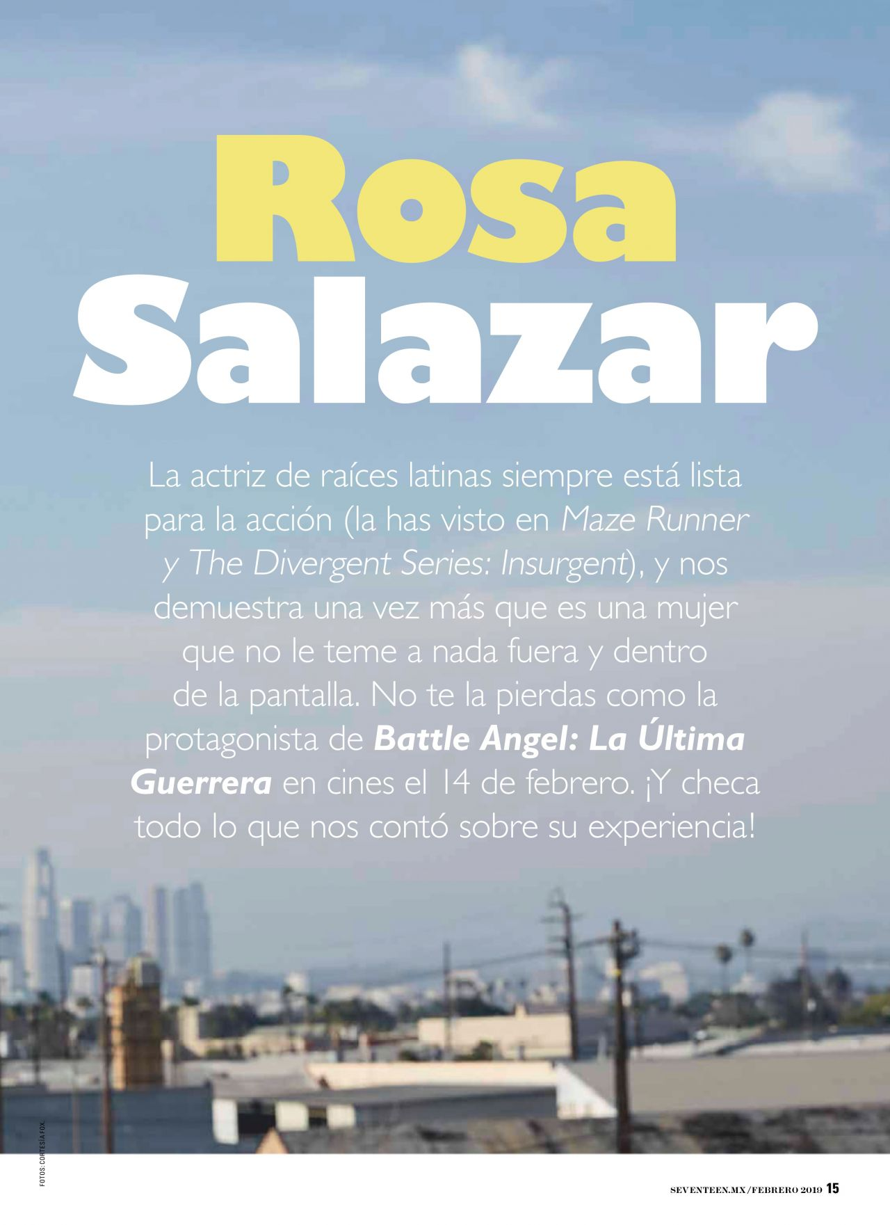 Rosa Salazar  Seventeen Mexico February 2019