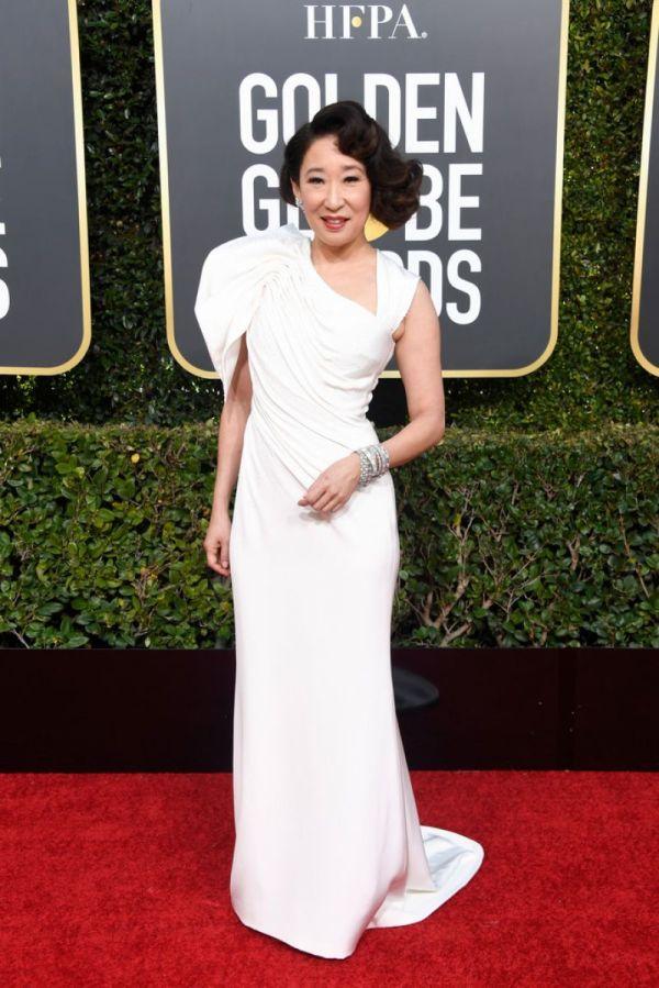 Sandra 2019 Golden Globe Awards Red Carpet