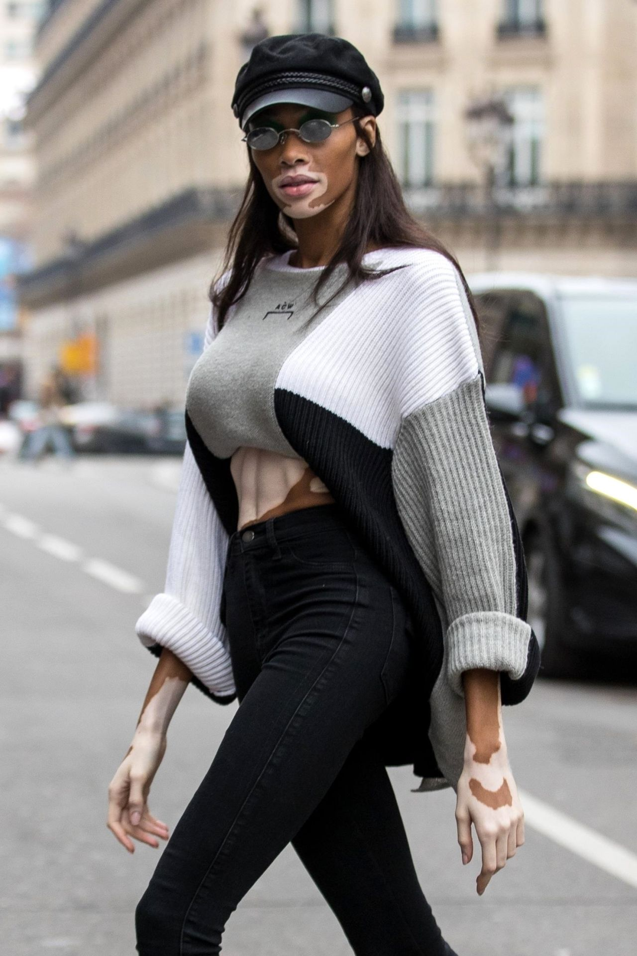 Winnie Harlow  Leaves the Kenzo Mens Fall Winter 2019