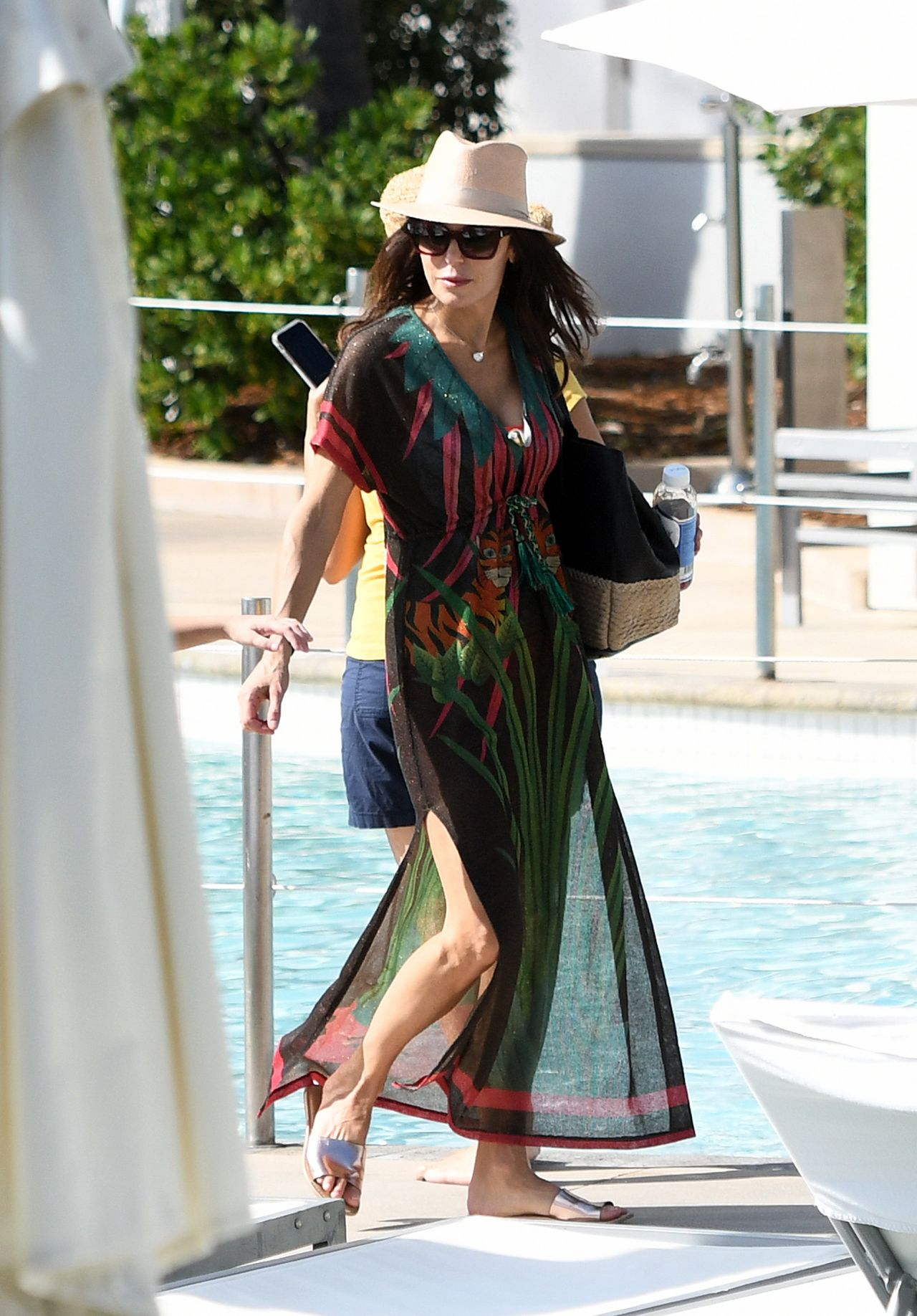 Bethenny Frankel in a Unique Jungle Themed Swimsuit 02032019