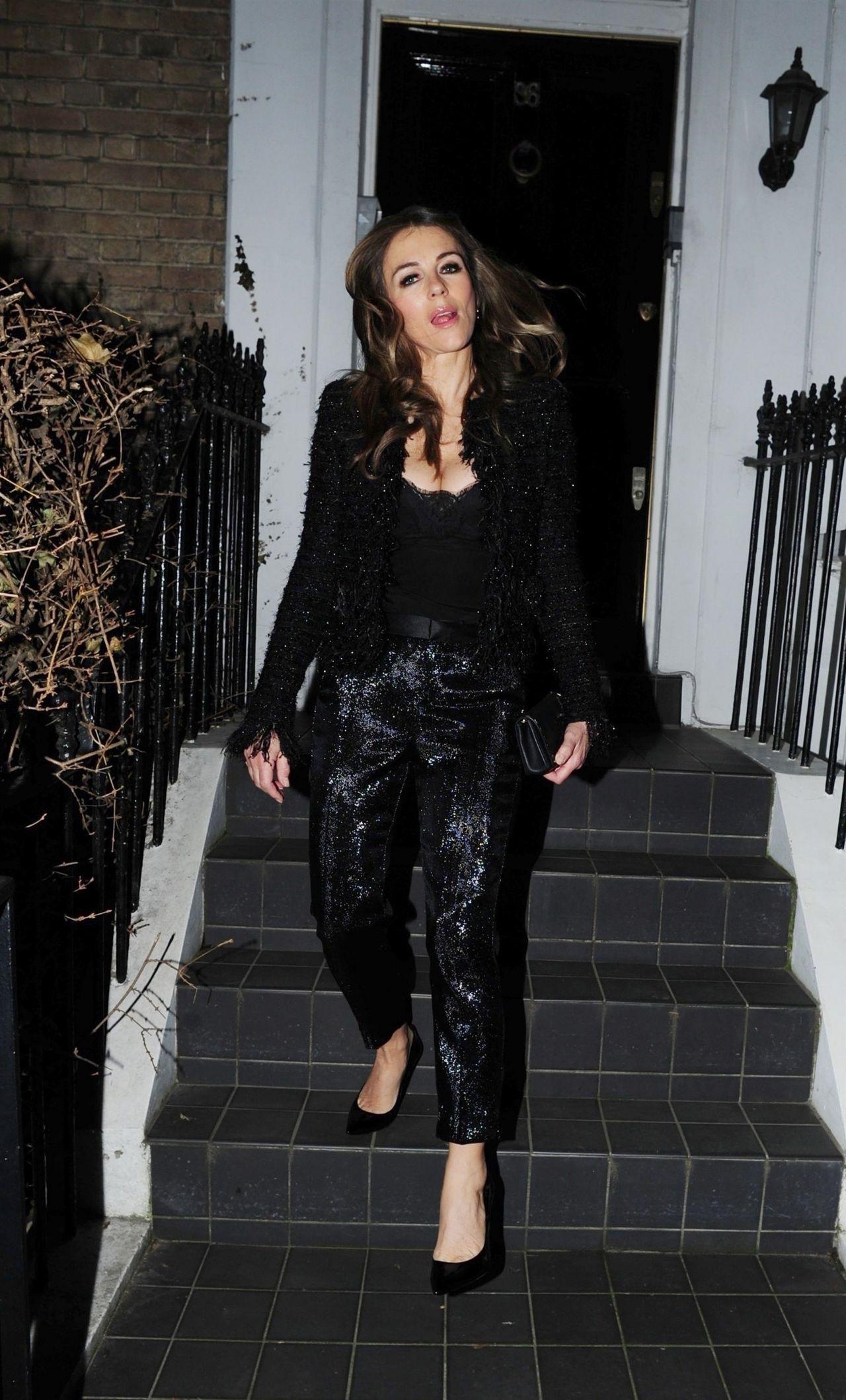 Elizabeth Hurley  Outside Her House in London 02142019