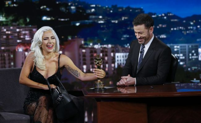 Lady Gaga At Jimmy Kimmel Live 02 27 2019
