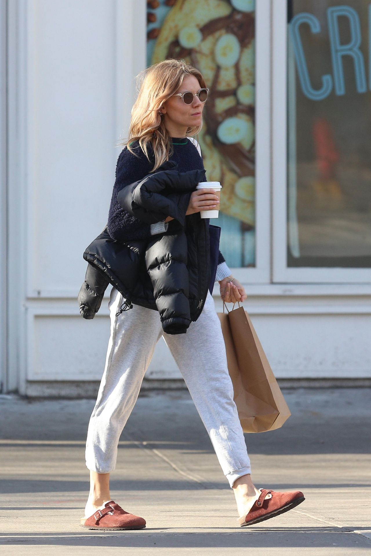Sienna Miller Street Style  New York City 02152019