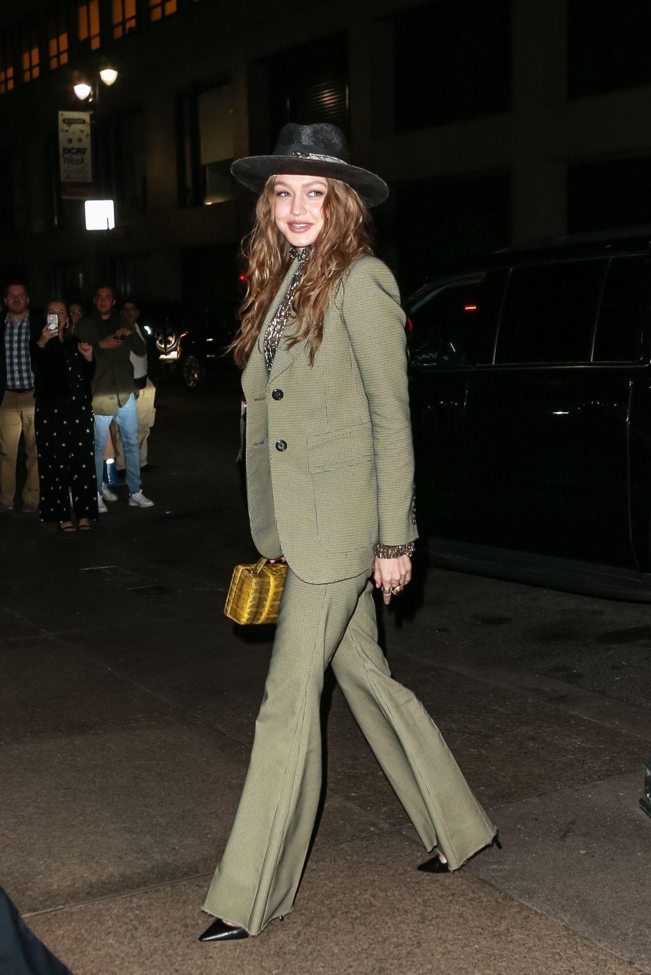 Gigi Hadid  Arriving at Marc Jacobs Wedding Reception