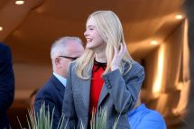 Elle Fanning Balcony Of Martinez Hotel Cannes