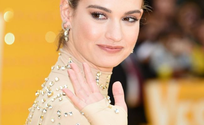 Lily James Yesterday Premiere In London