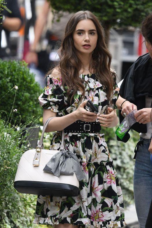 """Lily Collins - """"Emily in Paris"""" TV Series Set in Paris 08 ..."""