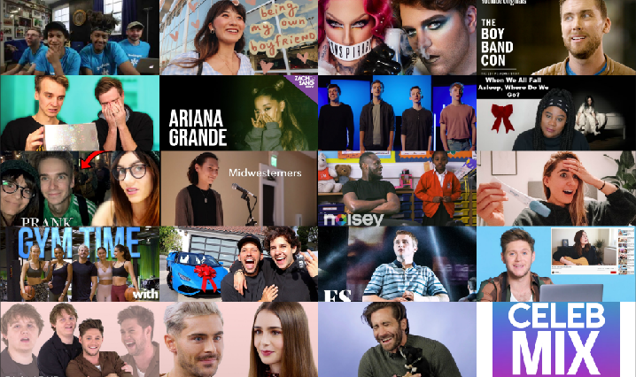 Collage of CelebMix's Top YouTube Videos of 2019