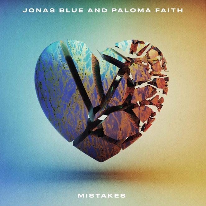 """Jonas Blue and Paloma Faith - """"Mistakes"""" official single artwork"""