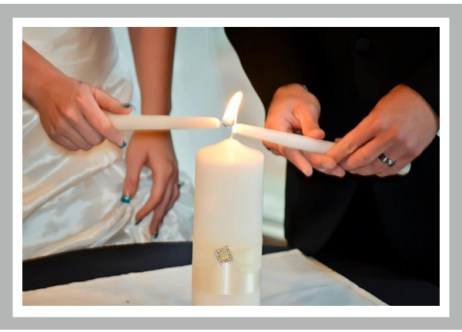 Unity Candle Lighting Ceremony - flame of love protects and warms