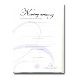 Naming Ceremony Certificate – Silver