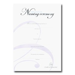Naming Ceremony Certificate – Silver – Boy