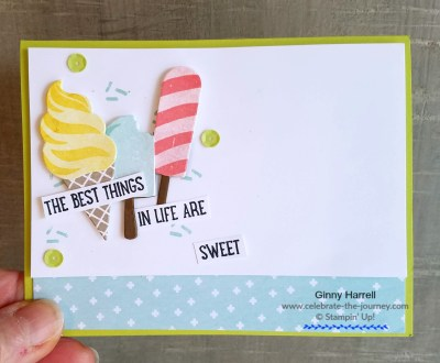 Created by Ginny Harrell #Cool Treats #Stampin' Up! Retiring Products