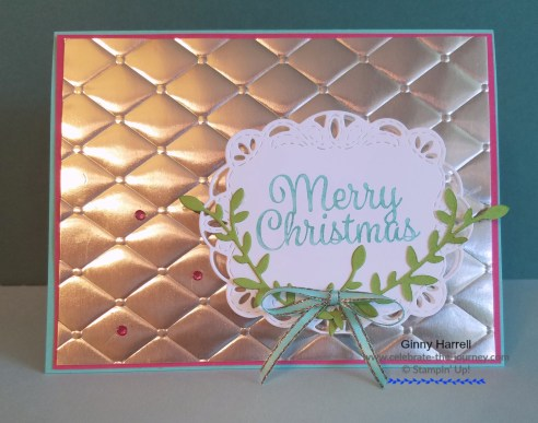 Tufted embossing folder christmas card ginny harrell stampin up