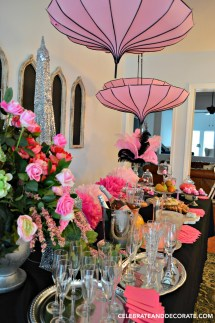 Black and Pink Paris Birthday Party