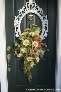 DIY Picture Frame Wreath - Celebrate & Decorate