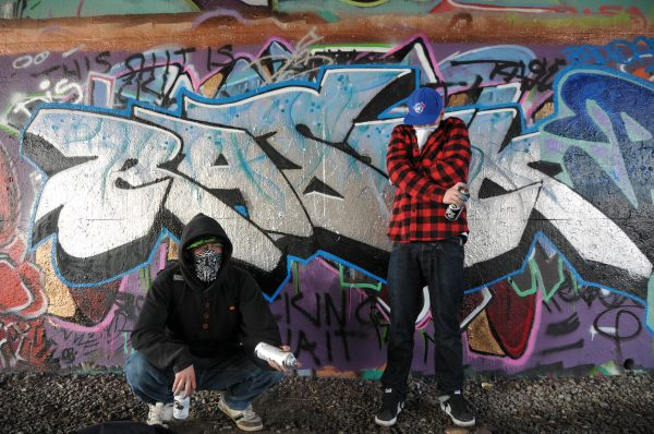 Day 37 Of 365-day Portrait Canada Graffiti Artists Under Overpass Ottawa Ontario