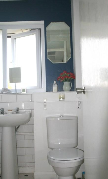 Navy blue bathroom  Celebrate Creation