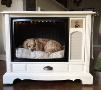 pUPdated Console TV Dog Bed  Celebrate Every Day