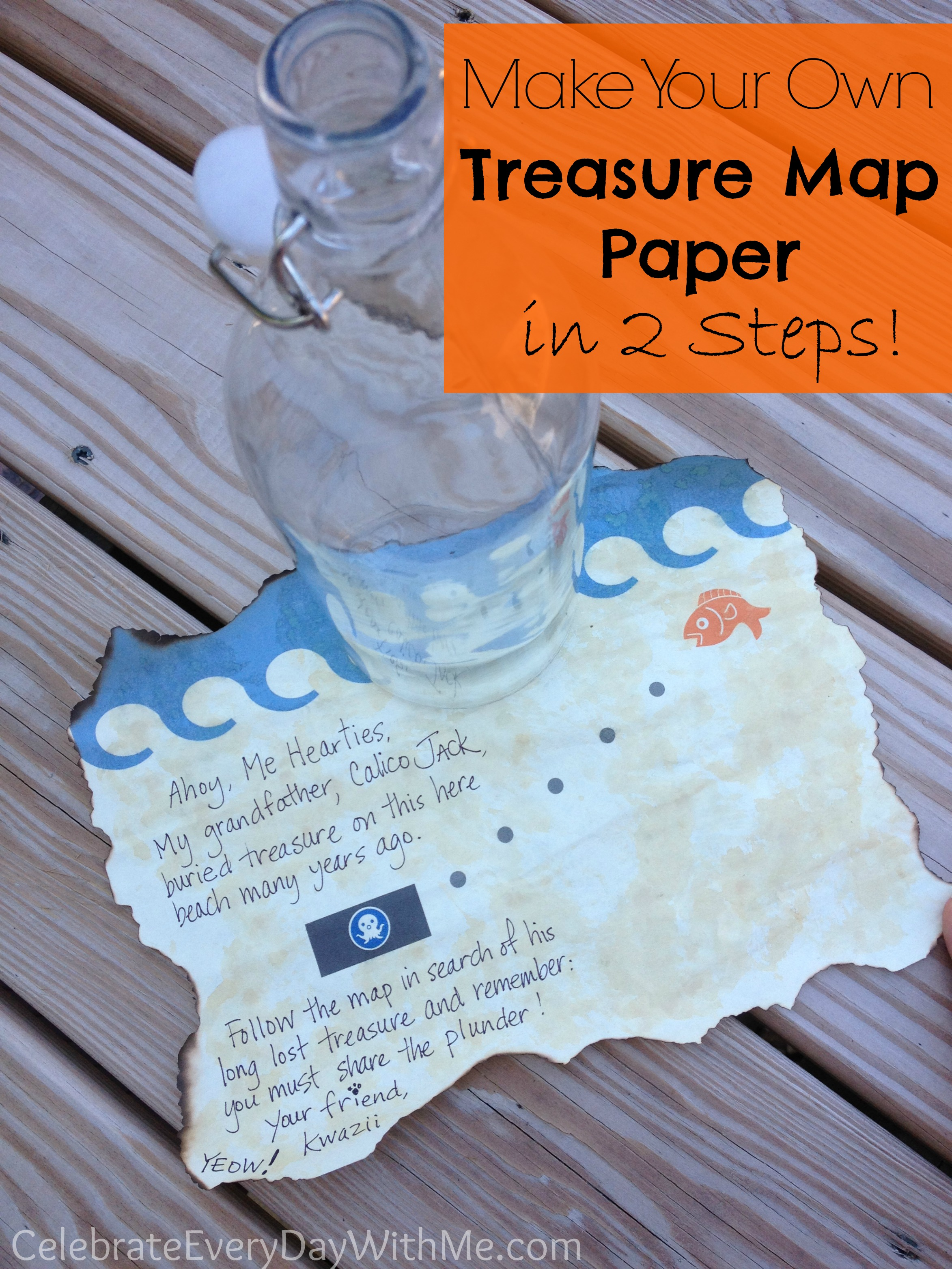How To Make Treasure Map Paper In 2 Steps
