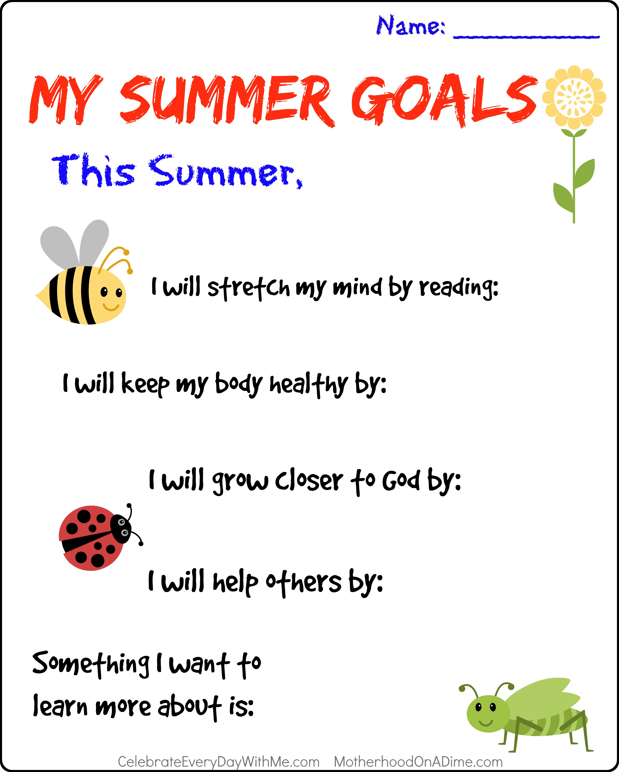 Setting Summer Goals With Your Kids