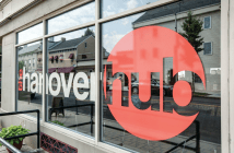 The Hanover Hub front window