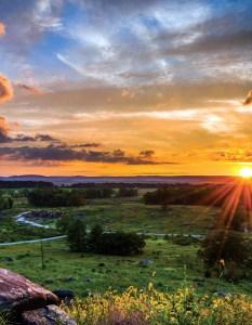 Gettysburg Battlefield summer evening