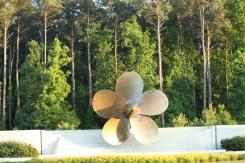 Ship propeller not a metal flower sculpture!