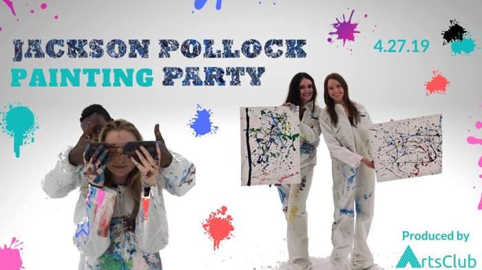 ArtsClub | Jackson Pollock Painting Party
