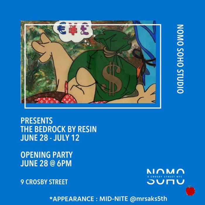 Friday at 6 PM – 10 PM NoMo SoHo X Art Apple NYC X Resin Art Show
