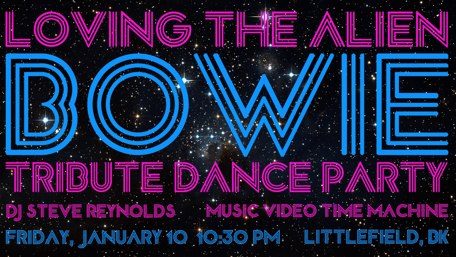 Friday January 10th – A David Bowie Dance Party – Brooklyn, NY