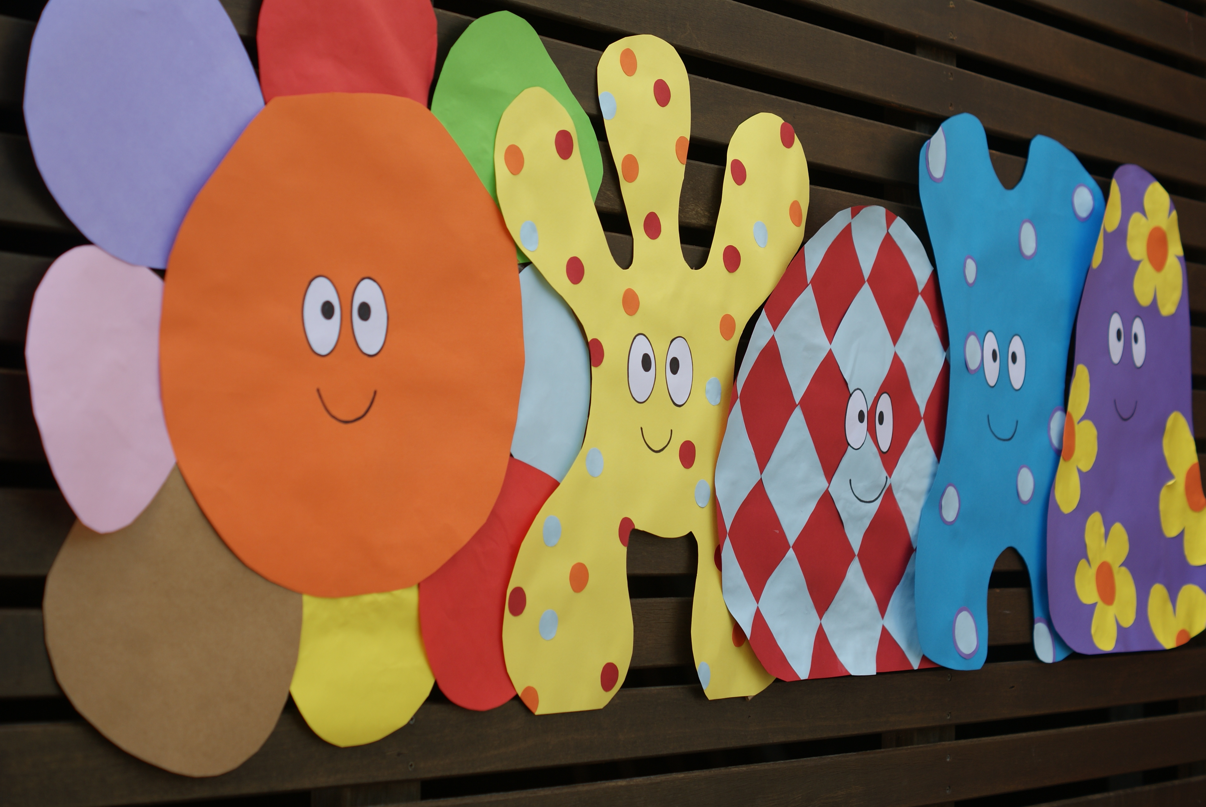 Large Hahoo Cut Outs For The Wall In The Night Garden Party