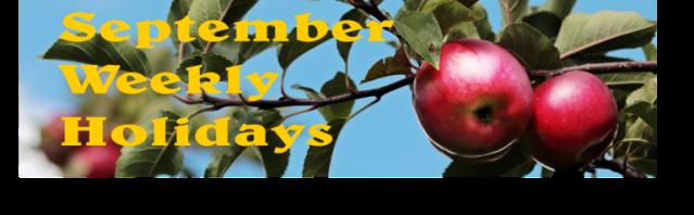 September Weekly Header