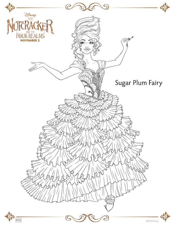 Magical Disney THE NUTCRACKER Printables And Coloring Pages