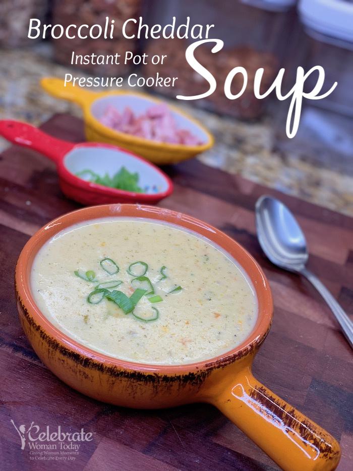 Enjoy creamy healthy Broccoli Cheddar Soup any season