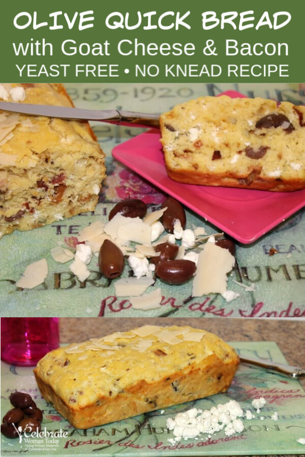 Goat Cheese and Olive Quick Bread