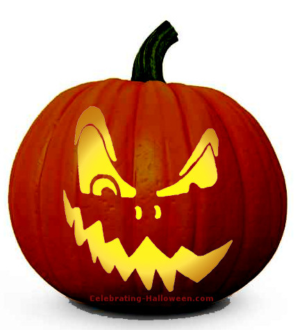 Demented Face Pumpkin Carving Pattern