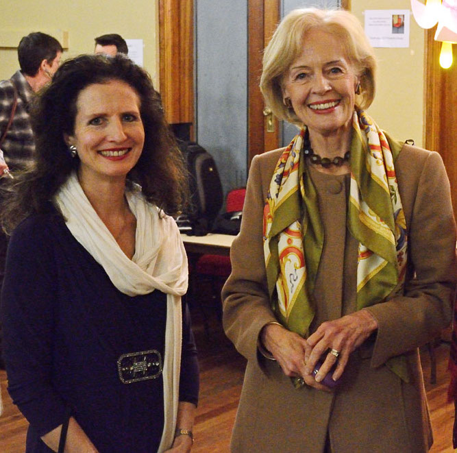 CIMF Concert 27: In Praise of Creative Women. The Governor-General, the Honourable Quentin Bryce AC CVO with violinist Madeleine Mitchell and Pro-Musica President Dorothy Danta.