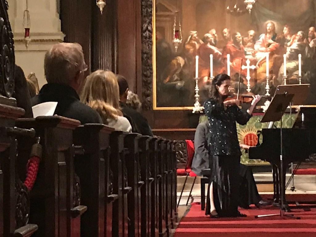 Madeleine Mitchell performs