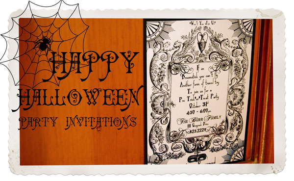 Vintage Halloween Invitation For Etsy