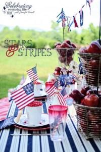 {let's celebrate} a 4th of July backyard celebration